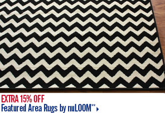 Extra 15% off Featured Area Rugs by nuLOOM**