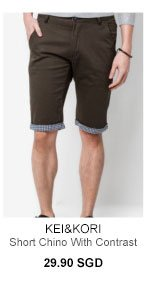 Chino with contrast turn up for 29.90SGD