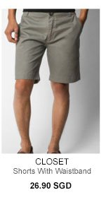 Shorts with side waistband for 26.90SGD