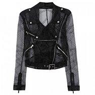 CHRISTOPHER KANE - Broderie anglaise organza biker jacket