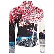MARY KATRANTZOU - Blossom printed cotton blend jacket