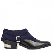 TOGA - Suede and leather harness ankle boots
