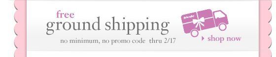 free ground shipping mo minimum, no promo code thru 2/17 shop now