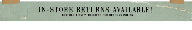 In store returns available
