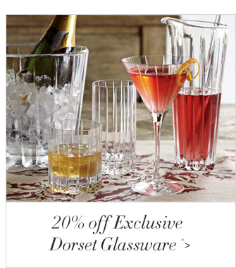 20% off Exclusive Dorset Glassware *