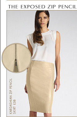 Zip Pencil Skirt