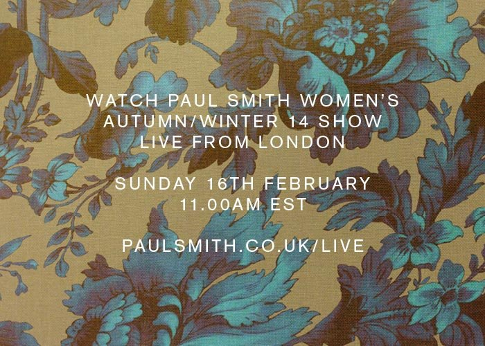 WOMEN'S AW14 SHOW - SUNDAY 16 FEBRUARY 11.00AM EST - WATCH LIVE HERE