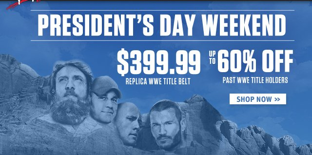 Celebrate one year of the WWE Championship Title Belt + get up to 60% off Title holder's Merchandise!