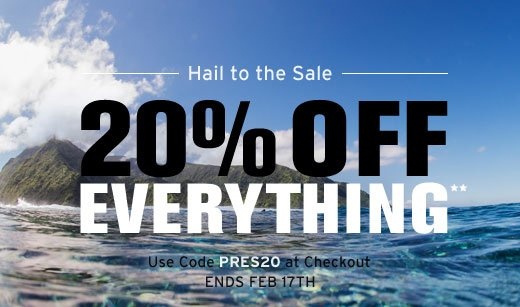 20% off everything**