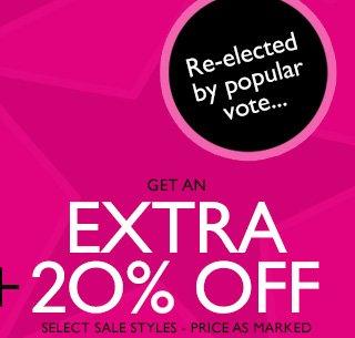 Extra 20% off
