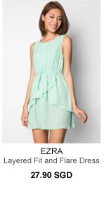 EZRA Layered Fit and Flare dress - 27.90 SGD