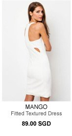 MANGO Fitted Textured Dress - 89.00 SGD