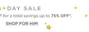 Up to 75% off President's Day Sale
