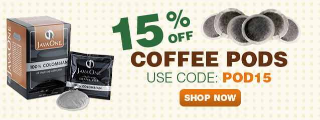 Expiring - Take 15% off your order of coffee PODS with coupon code: POD15