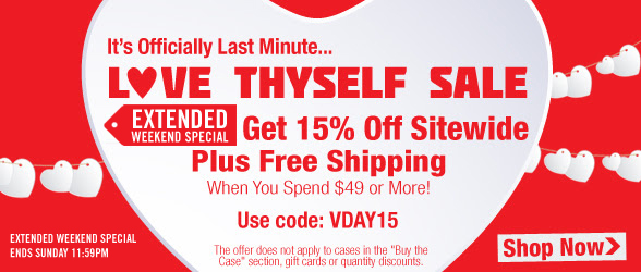 Extended Through Sunday! 15% Off Sitewide, Plus Free Shipping