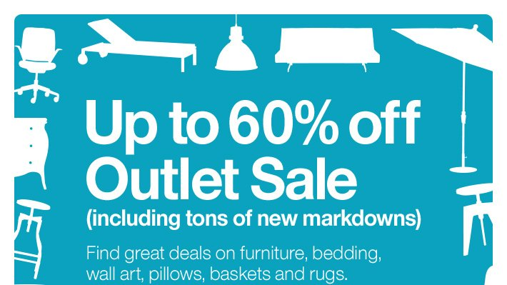 Up to 60% off Outlet Sale