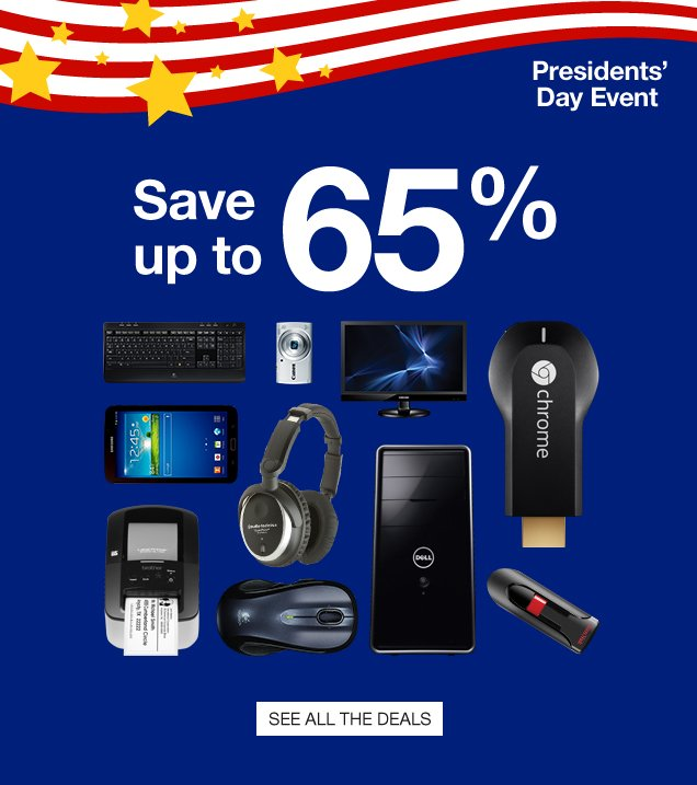 Presidents Day Event. Save up  to 65%. See all the deals.