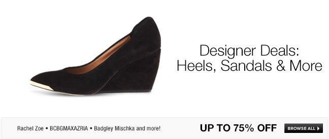 Designer Deals: Heels, Sandals and More