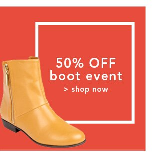 Shop 50% off boot event
