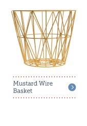 Mustard Wire Basket