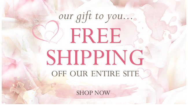Our gift to you...Free Shipping off our entire site.