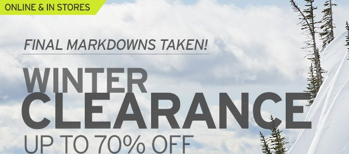 Winter Clearance - Up To 70% OFF