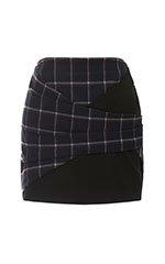 Plaid Ponti Skirt