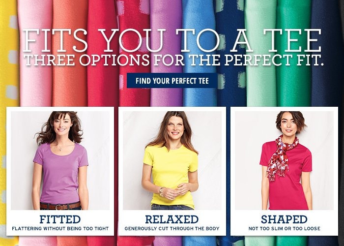 FIND YOUR PERFECT TEE