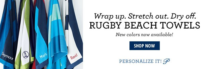 Rugby Beach Towels