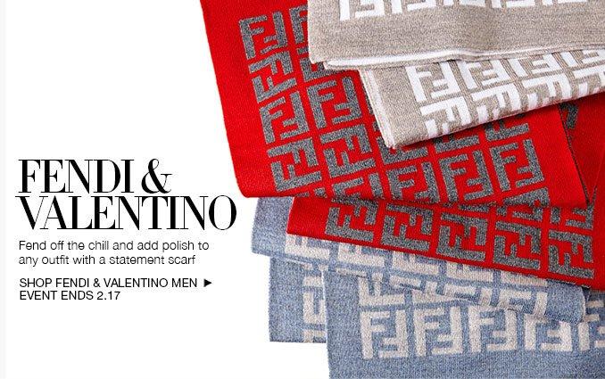 Shop Fendi & Valentino Scarves - Men's.
