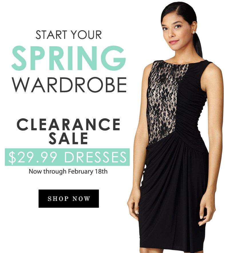 Clearance Sale: $29.99 Dresses!