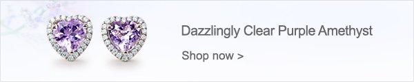 Dazzlingly Clear Purple Amethyst