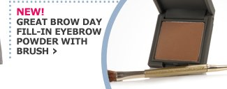 NEW! GREAT BROW DAY FILL-IN EYEBROW POWDER WITH BRUSH