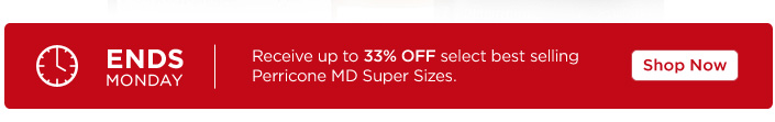 For a limited time only save on Perricone MD Best Sellers.