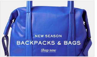 New Season: Backpacks And Bags. Shop now