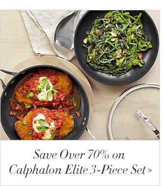Save Over 70% on Calphalon Elite 3-Piece Set