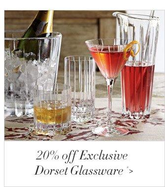 20% off Exclusive Dorset Glassware *