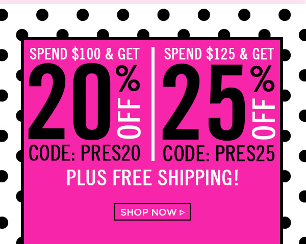 Sale! Up to 25% Off! Shop Now