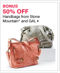 50% off Handbags from Stone Mountain and GAL
