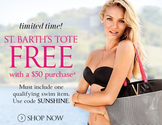 St. Barth's Tote Free With A $50 Purchase