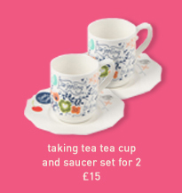 taking tea tea cup and saucer set for 2