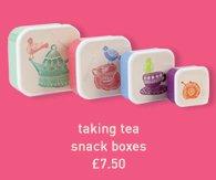 taking tea snack boxes