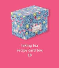 taking tea recipe card box