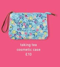 taking tea cosmetic case