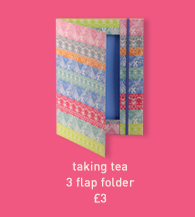 taking tea 3 flap folder