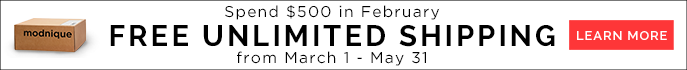Spend $500 in February. Free Unlimited Shipping