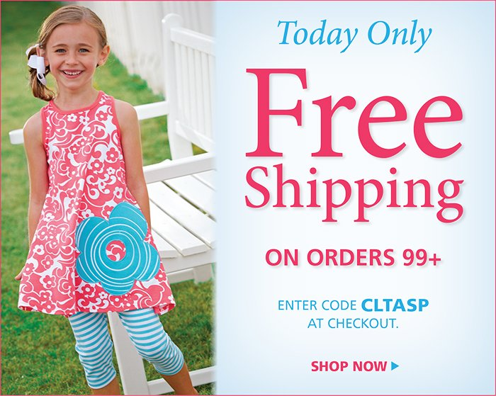 All Day Free Shipping on all orders 99+ with code CLTASP at checkout
