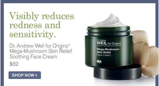 Visibly reduces redness and sensitivity Dr Andrew Weil for Origins Mega Mushroom Skin Relief Soothin Face Cream 62 dollars SHOP NOW