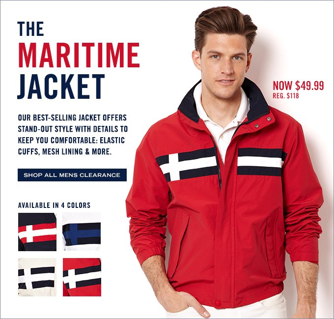 The Maritime Jacket is now only $49.99!