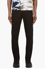 GIVENCHY Black Camo Detail Skinny Jeans for men